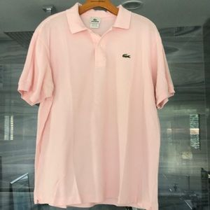 Men's Lacoste Size 6 Pink Polo